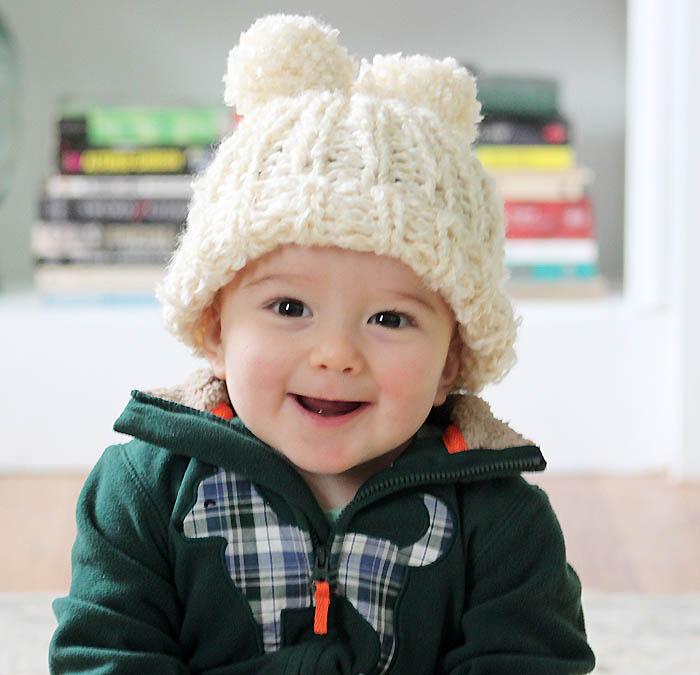 Angel Bear Knitting Pattern : Free Baby Hat Knitting Patterns - Gina Michele