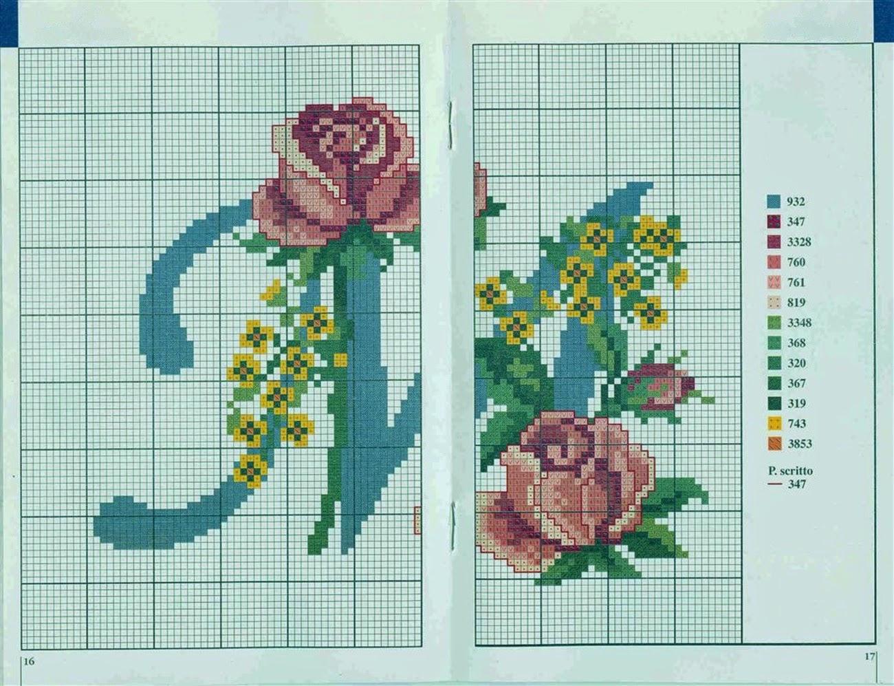 Professione donna schemi per il punto croce alfabeto con for Immagini punto croce per bambini