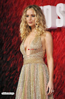 Jennifer Lawrence in a golde glittering gown at Red Sparrow Premiere in London ~  Exclusive Galleries 028.jpg