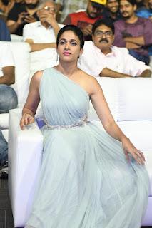 Lavanya Tripathi in off shoulder Sleeveless Gown at Vunnadi Okate Zindagi Audio Launch