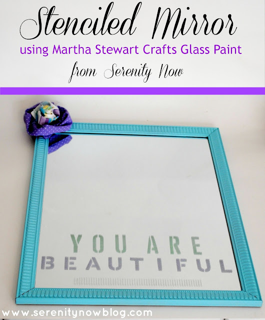 """You Are Beautiful"" Stenciled Mirror from Serenity Now"