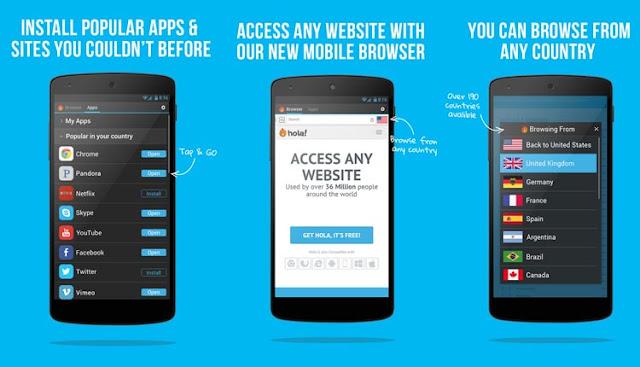 Hola Free VPN Proxy aplikasi VPN gratis