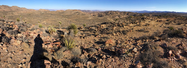 Panorama east toward Desert Queen Mine from the summit of Negro Hill, Joshua Tree National Park