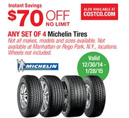 Costco tires coupon