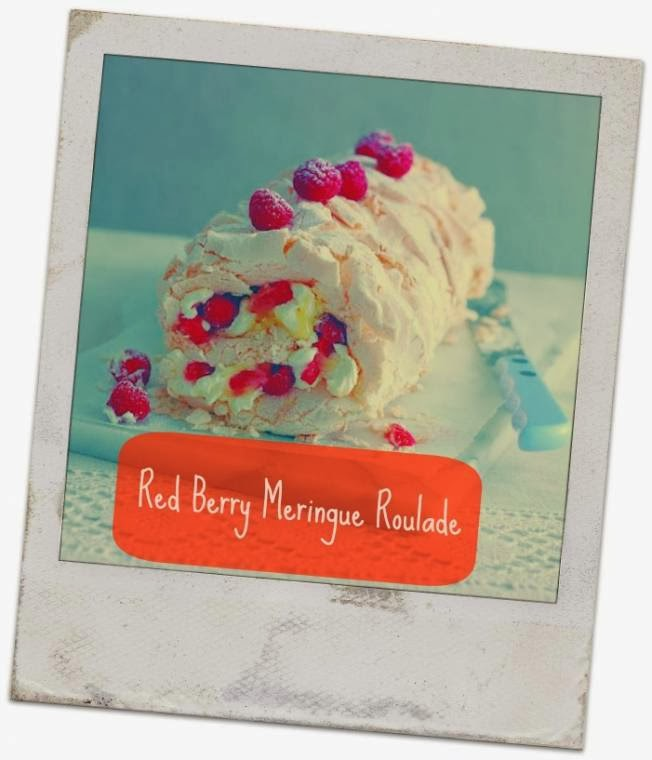 Red Berry Meringue Roulade