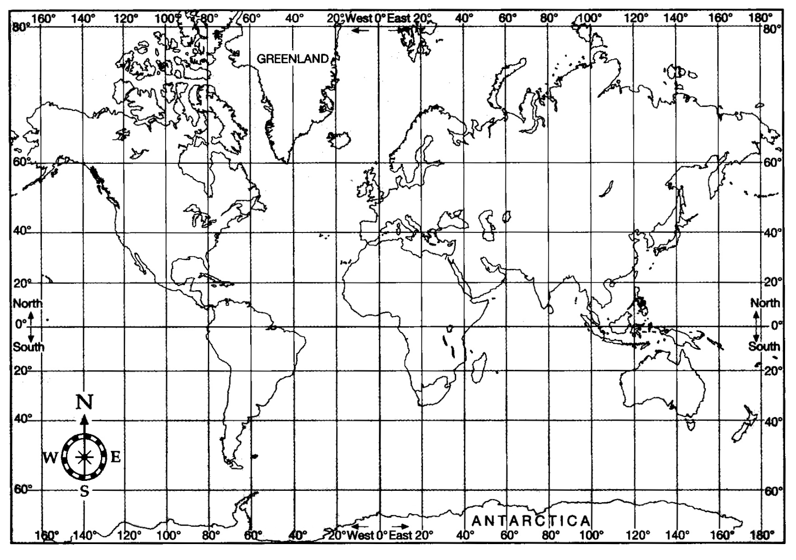 United States Map With Latitude And Longitude Printable - Longitude and latitude of the united states