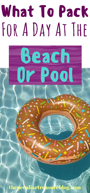 What to pack in your bag for a pool or beach day. #summer #beach #pool #travel