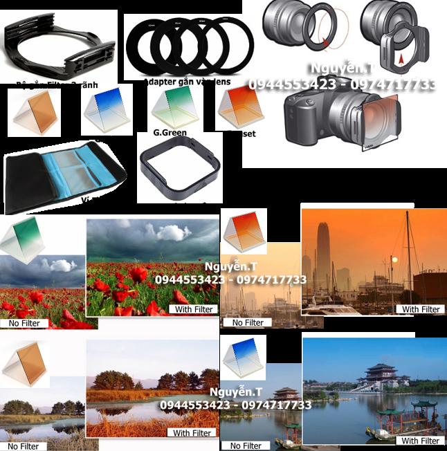 Bộ kính lọc Filter vuông chụp phong cảnh, phơi sáng - Kit 2