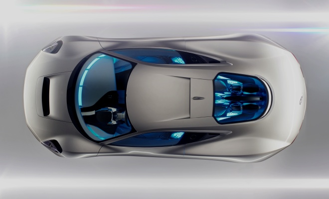 Jaguar C-X75 from above
