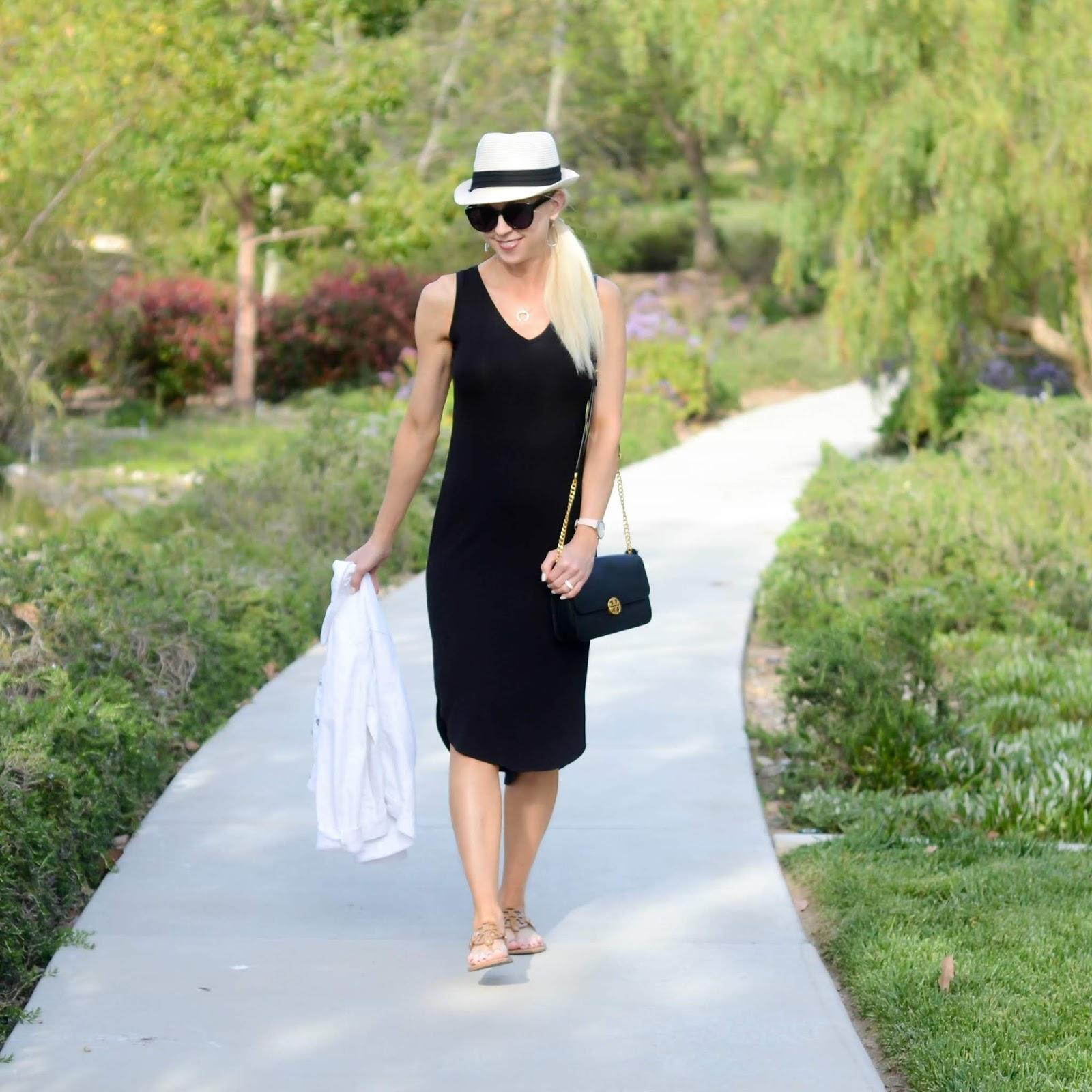 8f7878410343 Black V-Neck Dress + Currently   On the Daily E X P R E S S   Bloglovin'