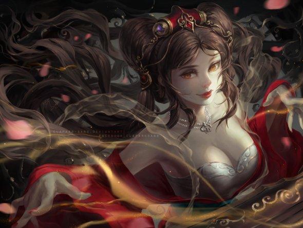Phong Anh deviantart artstation arte ilustrações fantasia oriental mulheres