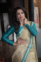 Tejaswi Madivada looks super cute in Saree at V care fund raising event COLORS ~  Exclusive 013.JPG