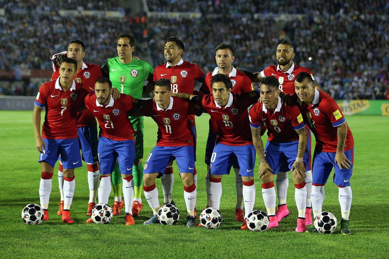 Formación de Chile ante Uruguay, Clasificatorias Rusia 2018, 17 de noviembre de 2015