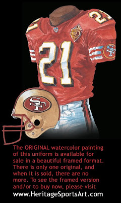 San Francisco 49ers 1996 uniform