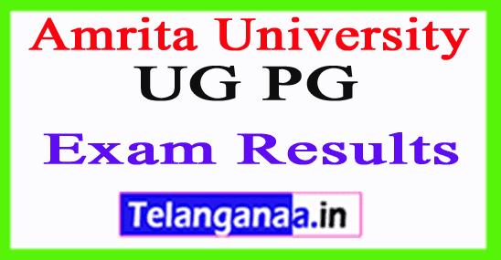 Amrita University Exam Results 2018