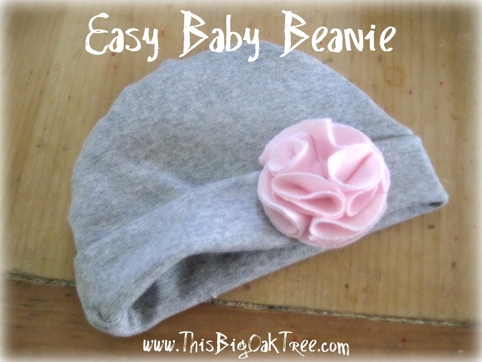 This Big Oak Tree  Easy Reversible Baby Beanie fd066053319