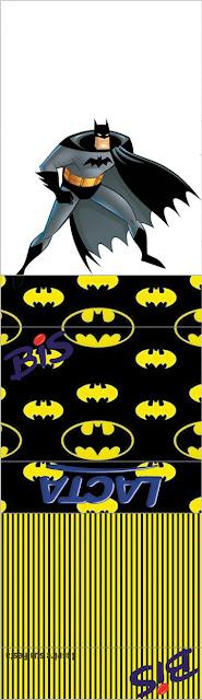 Envoltorio para Golosinas o Chicles de Fiesta de Batman para imprimir gratis