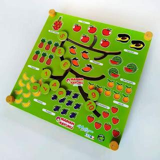 Mainan Anak Maze Buah 2 in 1