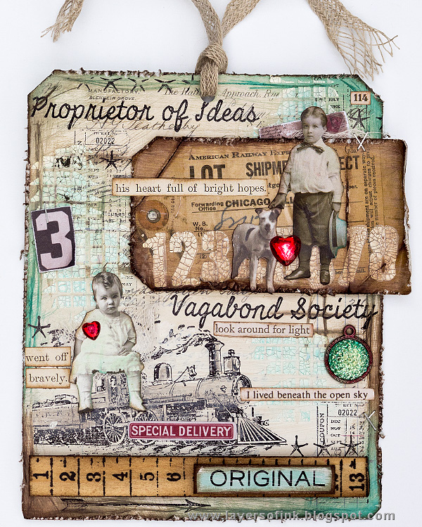 Layers of ink - Distressed Texture Tag by Anna-Karin Evaldsson