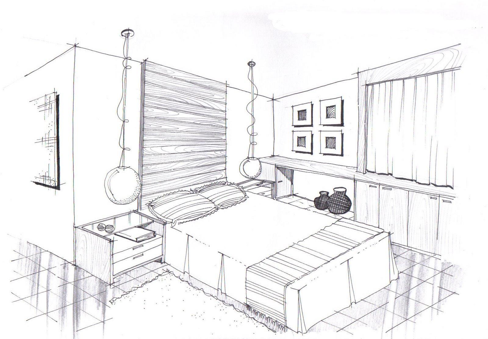 decoração quartos modelo ~ Desenhos preto e branco para