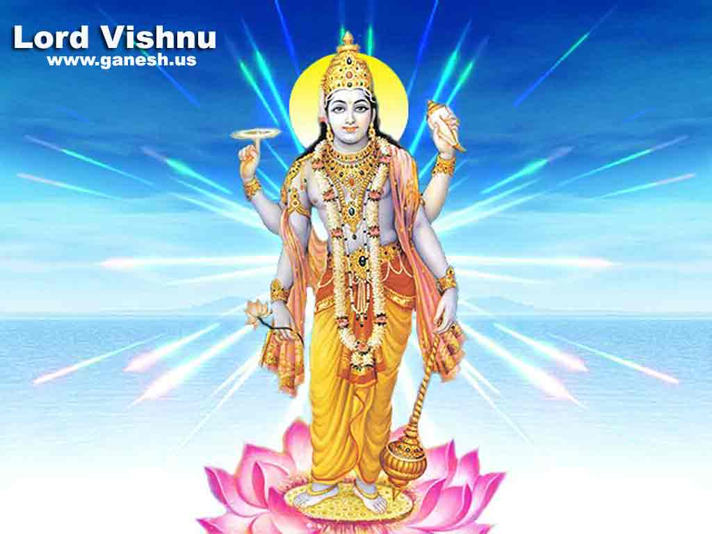 3d Wallpapers Of God And Goddess Hindu Lords Lord Vishnu