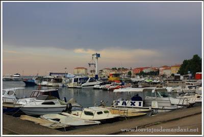 Muelle de la marina de Porec