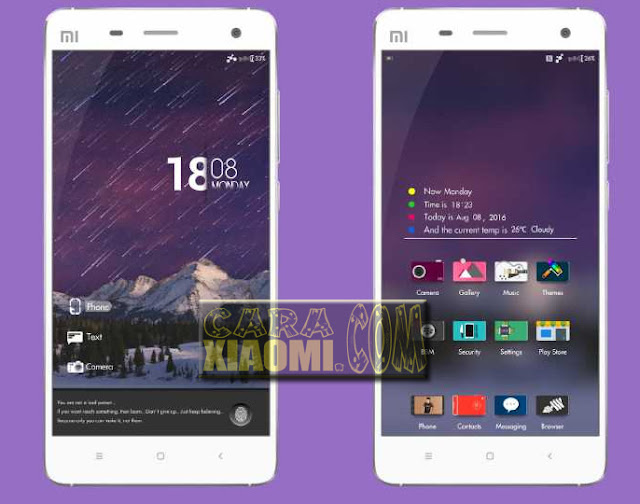 Download Theme MIUI Purple Rain V8 mtz For Xiaomi Terbaru