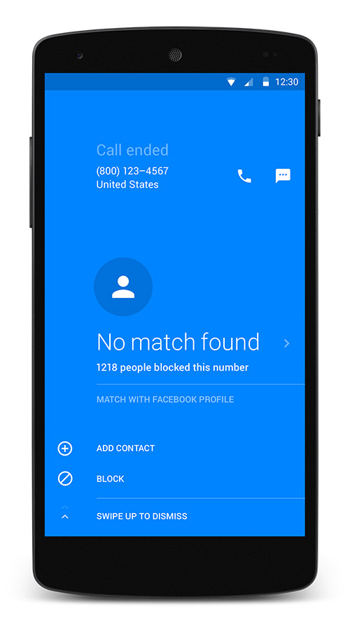 Block unwanted calls with hello app