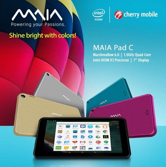 Cherry Mobile MAIA Pad C Now Official; Intel Atom X3 Tablet for Php2,499