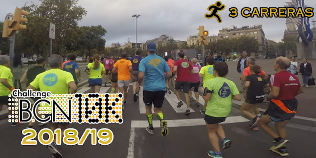 ChallengeBCN10K 2018/19 - 3 carreras