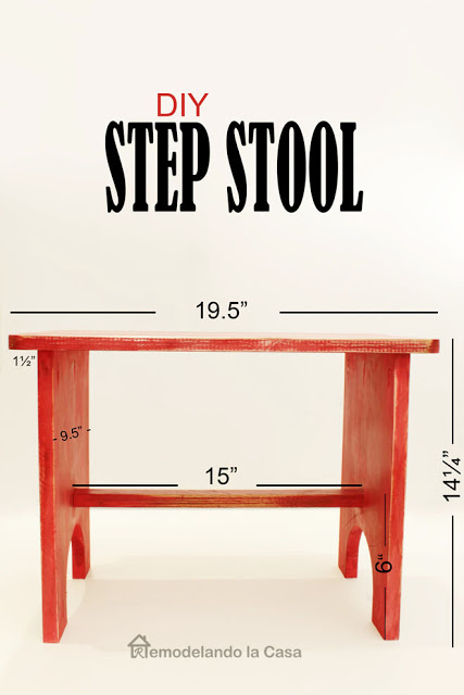 red step stool - Easy build.