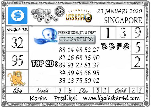 Prediksi Togel SINGAPORE LASKAR4D 23 JANUARI 2020