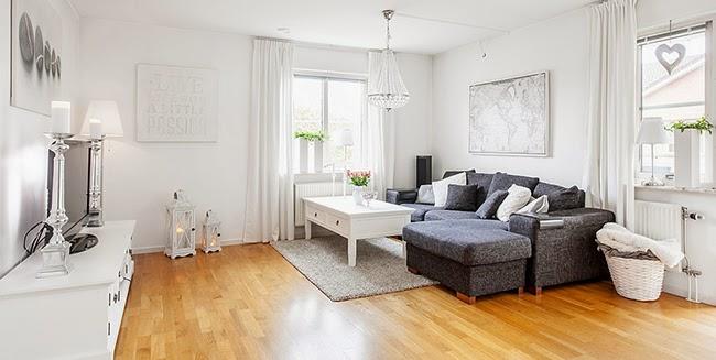 Un piso de estilo nórdico romántico en BLANCO Y GRIS ESPECTACULAR!