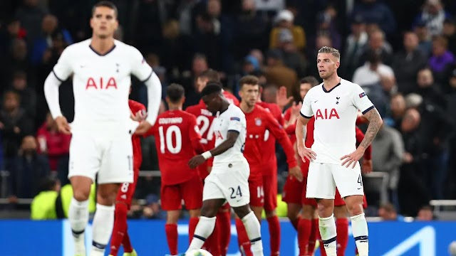 "Bayern Munich humiliate Tottenham at home ""7-2"""