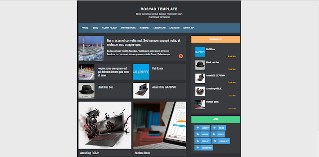 RBZ Semi Dark Responsive Blogger Templates Free Download