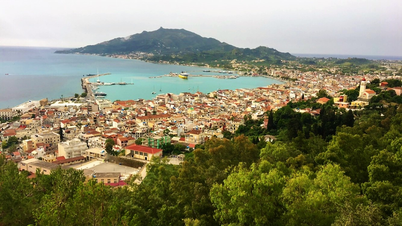 A View of Zakynthos Town