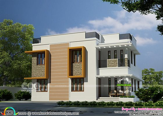 ₹32.5 lakhs cost estimated modern home