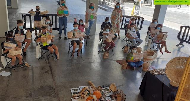 El Ayuntamiento de Los Llanos de Aridane concluye los talleres de cestería creativa para niños y niñas