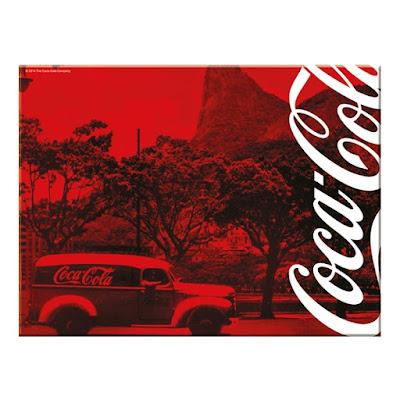 Tábua de vidro da Coca Cola