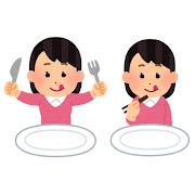 食事をする人のイラスト(女性)