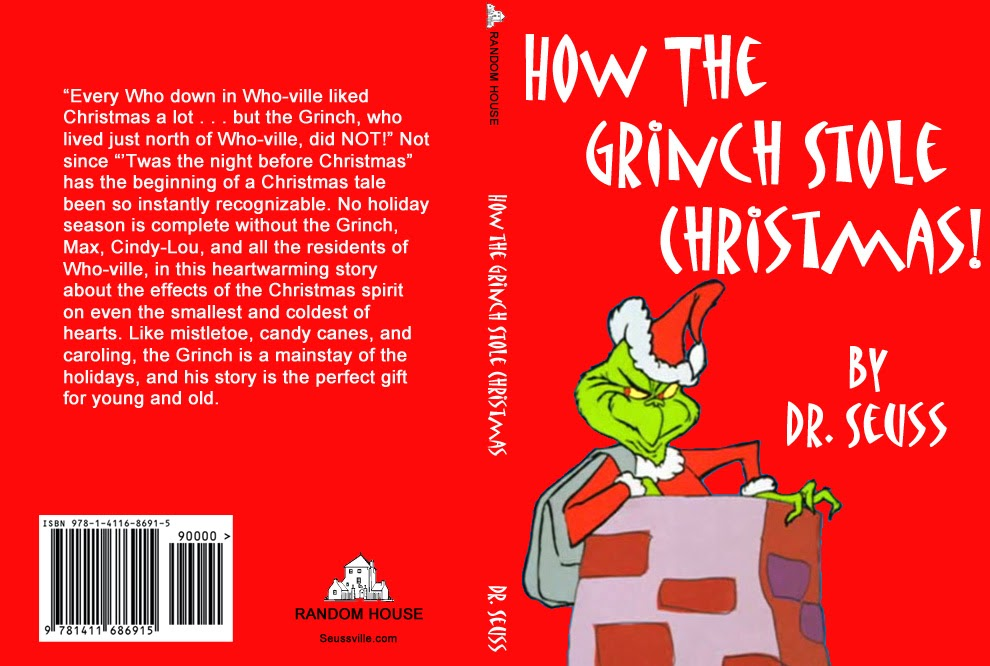 How The Grinch Stole Christmas Book Cover.Graphic Design I Mod 2 2013 Book Cover