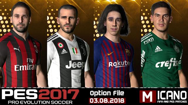 PES 2017 Next Season Patch 2019 Option File 03 08 2018 +