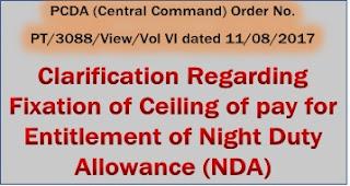 nda-pcda-clarification-on-fixation-of-pay-for-entitlement
