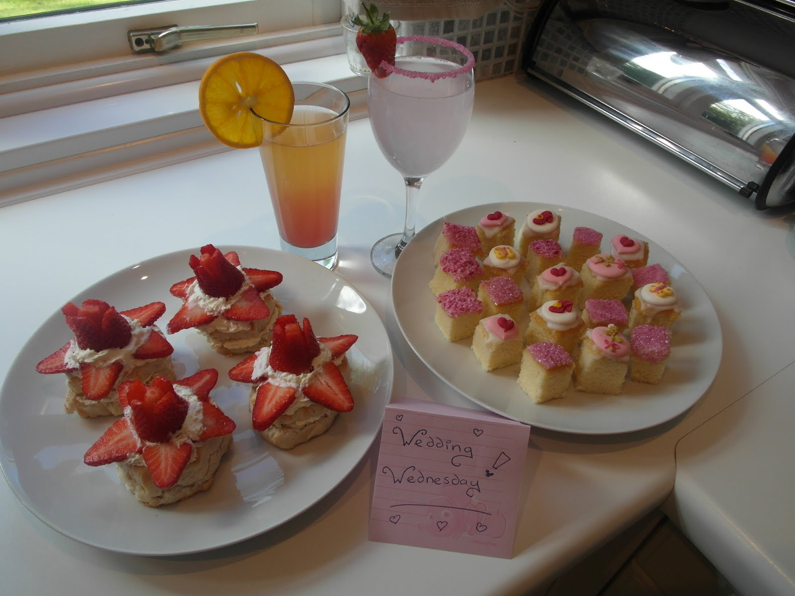 Mandas Disney Blog Royal Wedding Party Food Princess Teacakes Strawberry Cream Sconeocktails