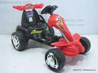 1 Mobil Mainan Aki PLIKO PK8218N GOKART dengan Kendali Jauh