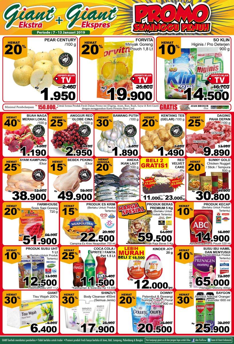 #Giant - Promo Katalog Seminggu Periode 07 - 13 Januari 2019
