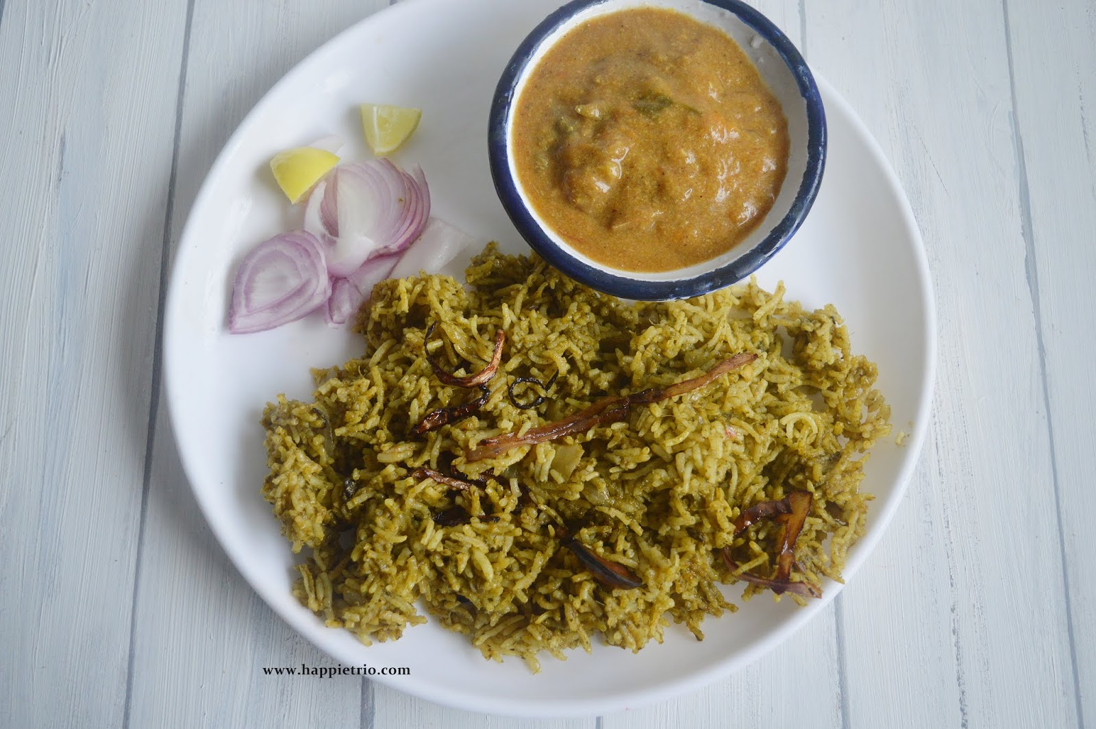 Palak Biriyani Recipe | How to make Palak Biryani