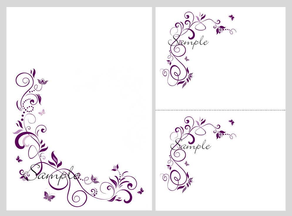 Free Download Wedding Invitation Template: Floral Blank Wedding Invitation Templates