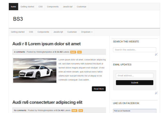 Bs3 bootstrap 3 responsive blogger template for Bootstrap 3 email template