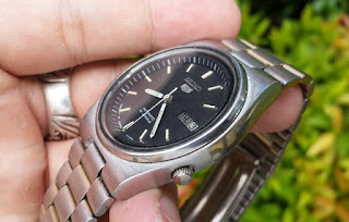 Jam Tangan Seiko 5 Vintage 7009-3171 Automatic Japan Men Day Date